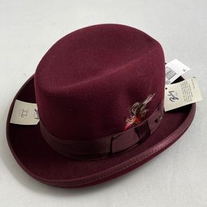NWT Bailey Godfather burgundy wool hat XL